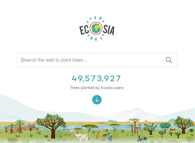 vyhledávač ecosia