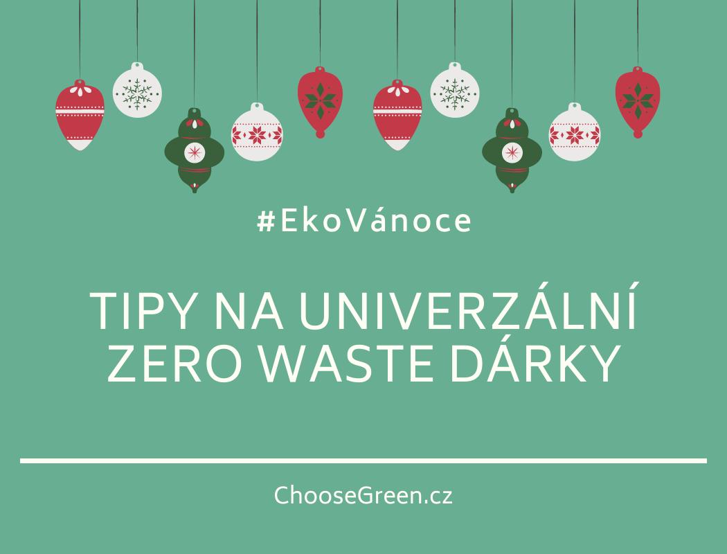 tipy na zero waste dárky