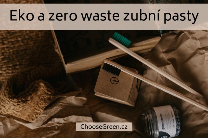 Ekologické a zero waste zubní pasty